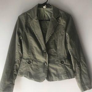 Olive green 2 button jacket/blazer